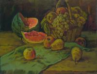 Vasily Belikov Still life with water melon Натюрморт