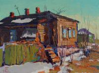Alexey Golovchenko The streets of Penza in the spring Городской пейзаж