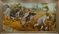 "Pavel Epifanov Copy of Bruegel ""The Parable of The Blind"", 1568 Копии картин"